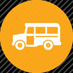 school bus, transport icon