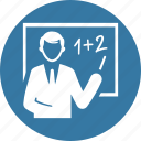 education, presentation, teacher icon