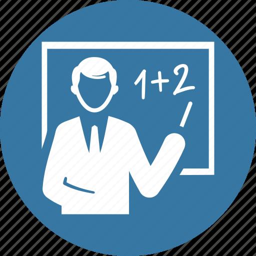 education, presentation, teacher icon