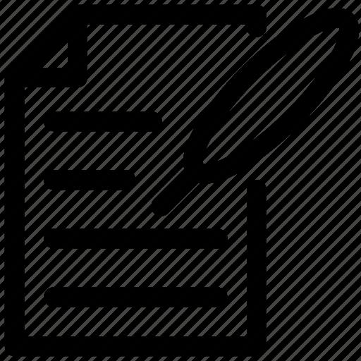edit, page, paper, pencil icon icon