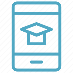 digital education, e learning, mobile, study app, technology icon icon