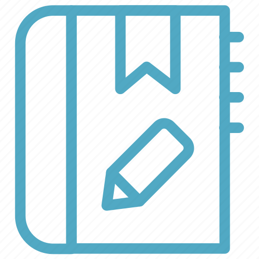 diary, notebook, notes, pencil icon icon