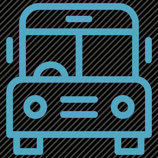 autobus, bus, coach, school, school bus, transportation icon icon