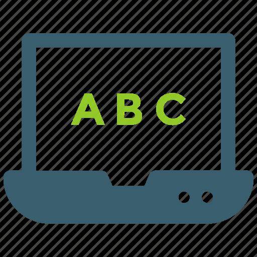 elearning, laptop, machine, online education icon icon