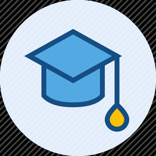 diploma, education, graduation, hat icon