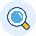 find, glass, magnifier, zoom icon