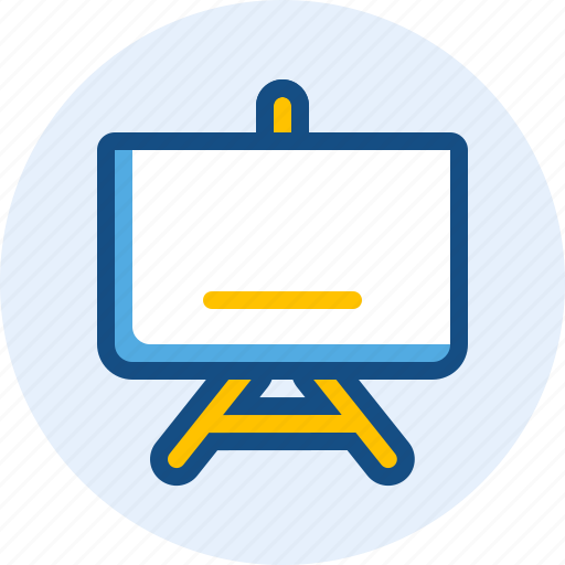 blackboard, education, presentation, whiteboard icon