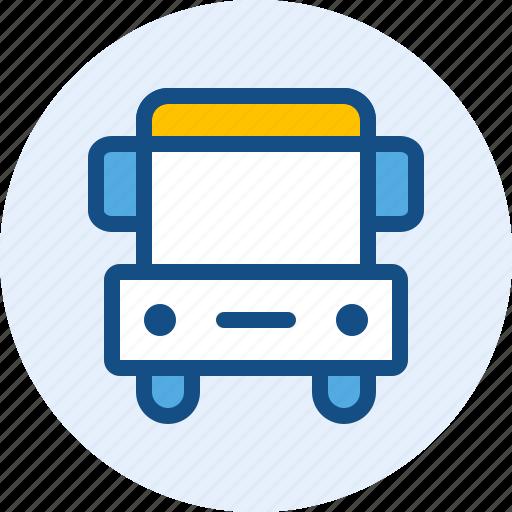 bus, education, school, student icon