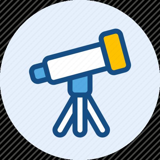 astronomy, education, scope, telescope icon