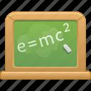 blackboard, chalk, chalkboard, classroom, education, school icon