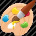 art, color palette, paint brush, paintbrush, painting, palette icon