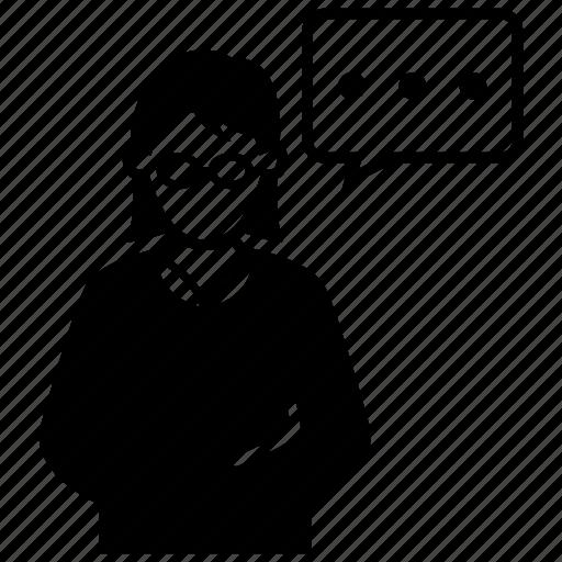 avatar, female, girl, news, teacher, user, woman icon