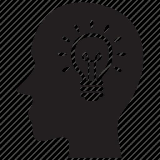 business, creative, idea, light bulb icon