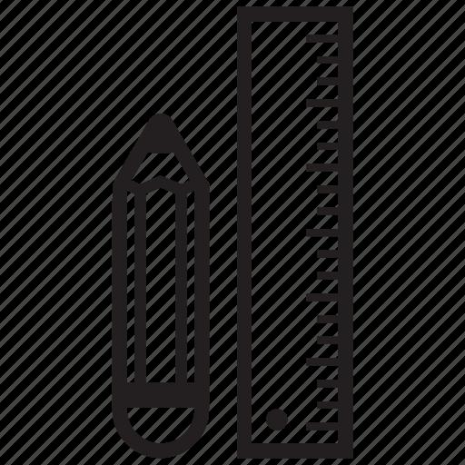 design, draw, edit, pen, pencil, ruler, write icon