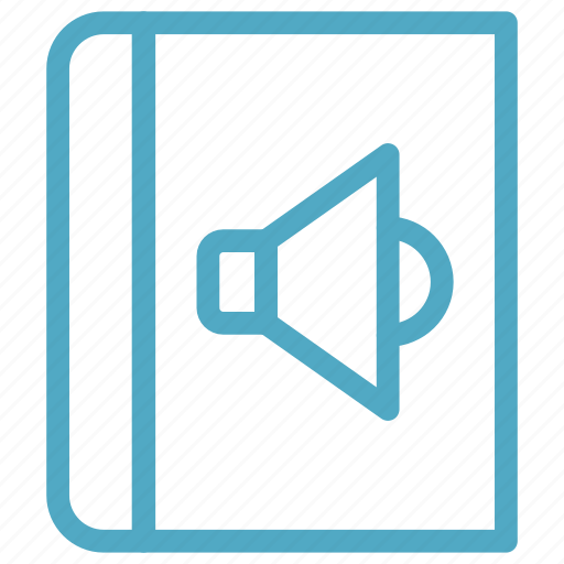 audio, book, speaker icon icon