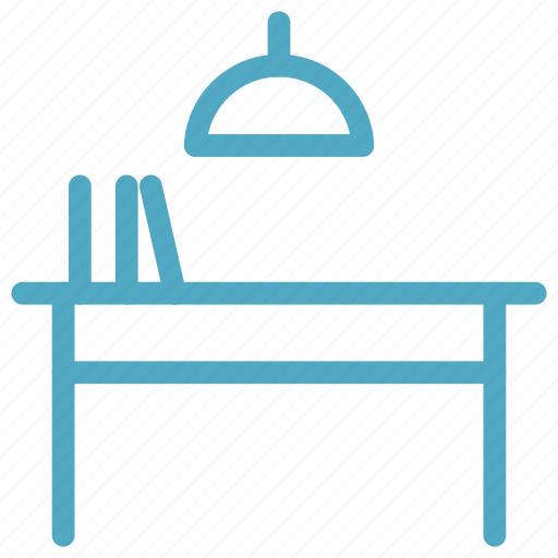 class room, education, learning, study lamp, study room, study table icon icon