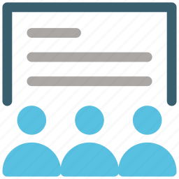 class, classroom, group, school, sitting, student, students icon icon