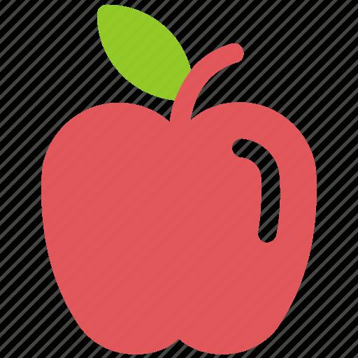 apple, education, fruit, fruits icon icon