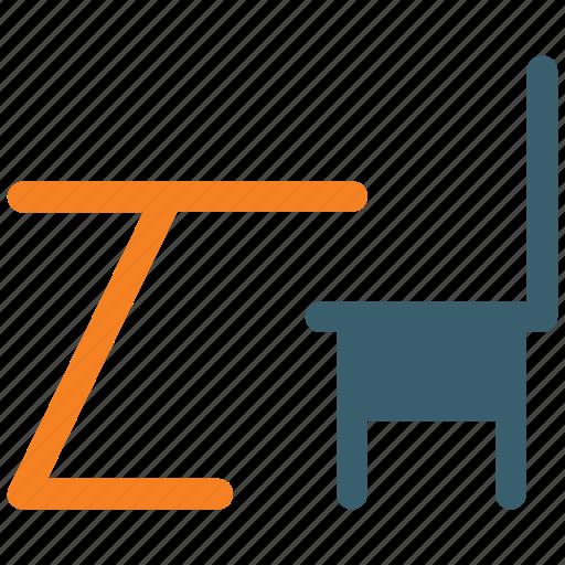 chair, furniture, interior, table icon icon