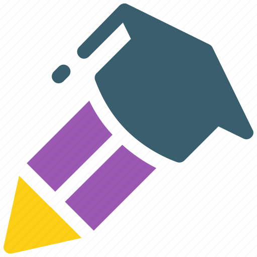 graduate, graduation cap, pencil, pencil icon, write, writing icon