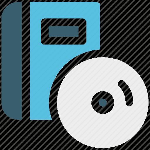audio book, book, content, disc icon icon
