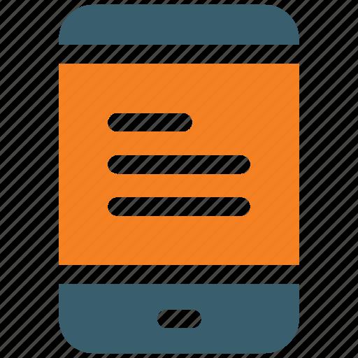 book, digital, ebook, education, mobile, phone, read icon icon