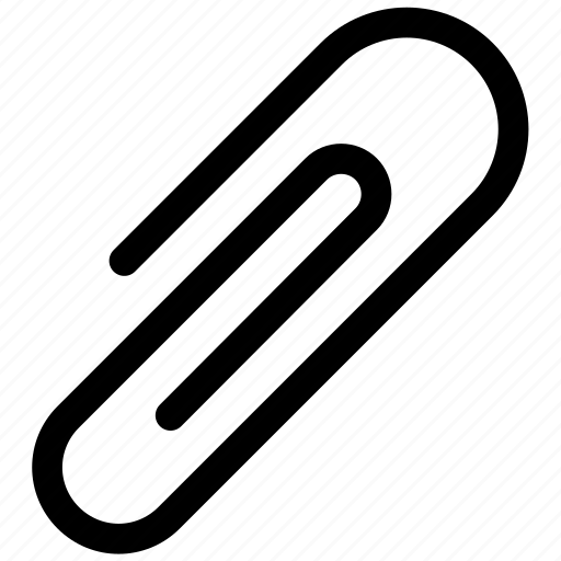 attachment, clip, paper icon icon