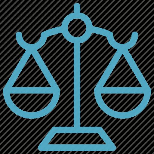 compare, justice, law, scale icon icon