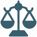 balance scale, court, justice scale, law, legal icon icon