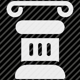column, greek, pillar icon icon