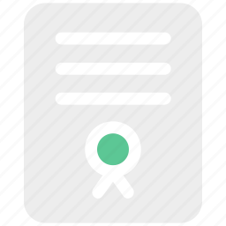certificate, diploma, document, education icon icon