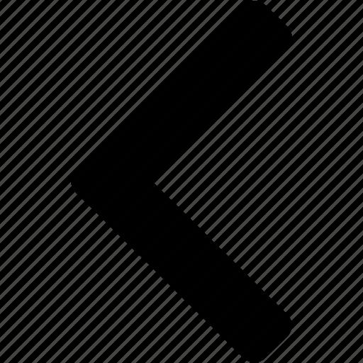 arrow, go left, left, left direction, left side, previous, to left icon