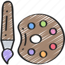 art, education, equipment, essentials, supplies icon