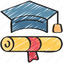 achieved, cap, degree, education, finish, smart