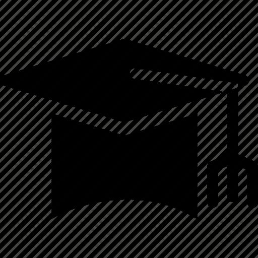 cap, corner-cap, graduate cap, hat, mortarboard, square academic cap, square cap icon