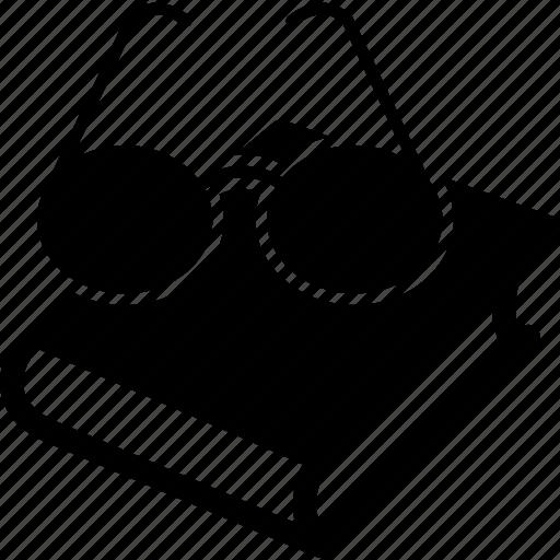 bifocals, book, eyeglasses, glasses, specs, spectacles icon