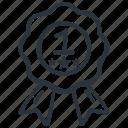 achievement, award, badge, prize icon