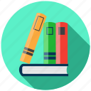 back to school, book, bookshelf, education, knowledge icon