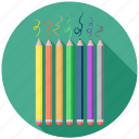 art, back to school, colors, crayons, education icon