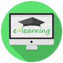 e-learning, education, knowledge, learn, modern, online, school icon