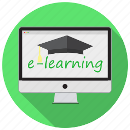 e-learning, education, knowledge, learn, modern, online, school icon