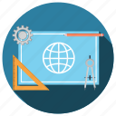 education, engineering, knowledge, project, science icon