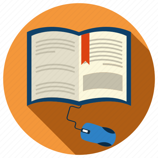 book, e-learning, education, information, knowledge, modern, online icon