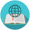 book, education, information, internet, knowledge, modern, online icon