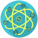 atom, education, knowledge, school, science icon