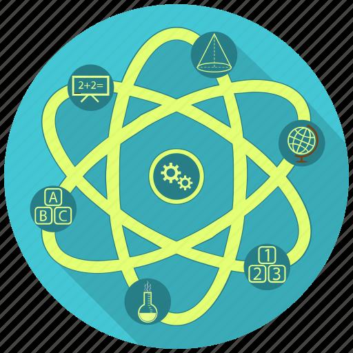 atom, education, knowledge, school, science icon