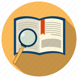 book, education, information, knowledge, search icon