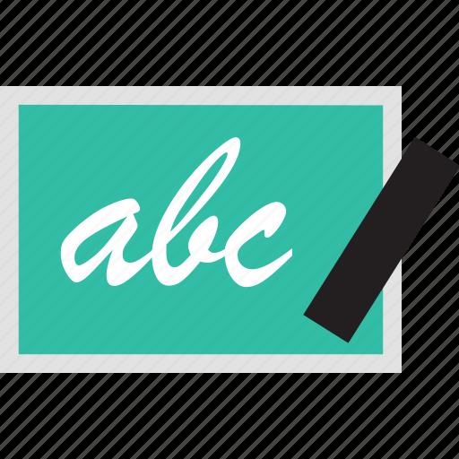 abc, board, chalk, school icon