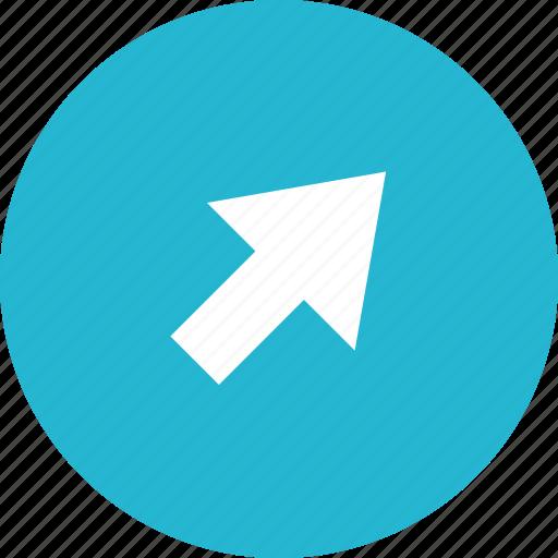 arrow, click, mouse, school icon