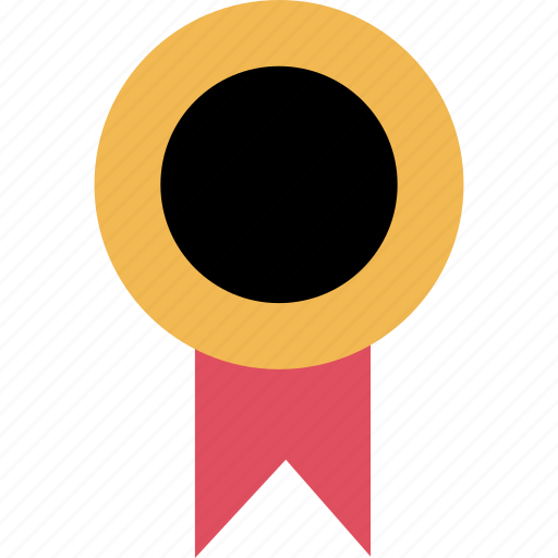 award, ribbon, school icon